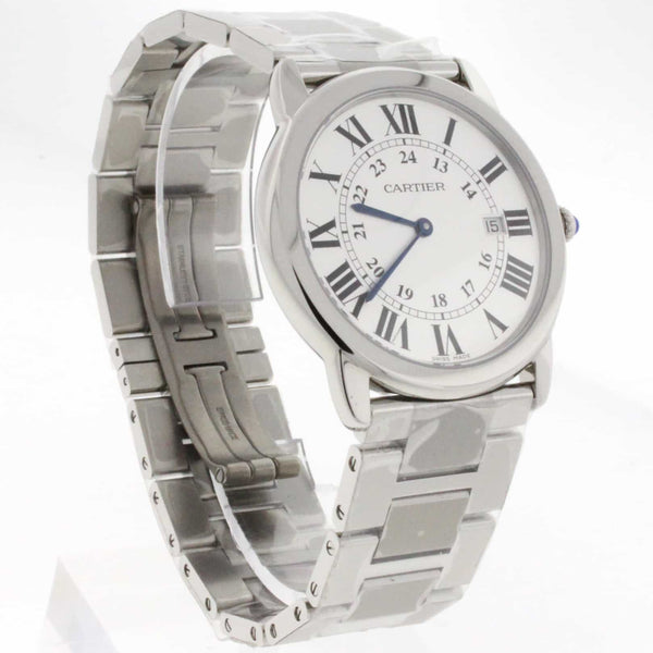Cartier Ronde Solo Large 36MM Silver Dial Stainless Steel Watch W6701005 Unworn