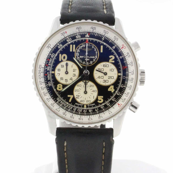 Breitling Navitimer Airborne 38MM Chronograph Calendar Stainless Steel Mens Watch A33030