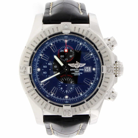 Breitling Super Avenger 49MM Chronograph Automatic Stainless Steel Mens Watch A13370