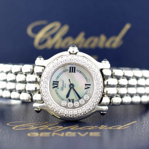 Chopard Happy Sport Original Diamond Bezel Floating Diamonds Ladies Watch 278294-2005
