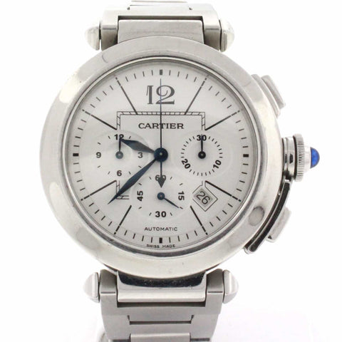 Cartier Pasha Chronograph 42MM Automatic Stainless Steel Watch W3108555