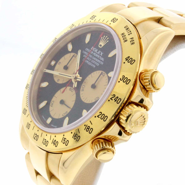 Rolex Cosmograph Daytona 18K Yellow Gold Paul Newman Dial 40MM Automatic Mens Watch 116528