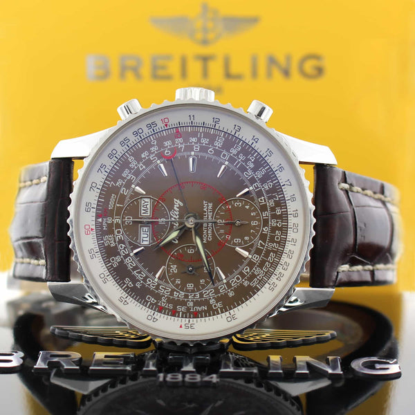 Breitling Montbrillant Datora Calendar 43MM Chronograph Automatic Stainless Steel Mens Watch A21330