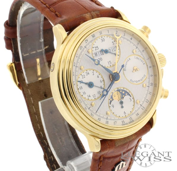 Maurice Lacroix 18K Yellow Gold Moon-phase Calendar ML66 7751 Mens Watch