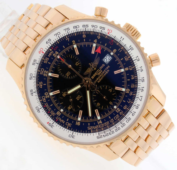 Breitling Navitimer World 18K Rose Gold Special Edition Watch R24322