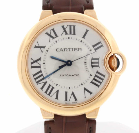 Cartier Ballon Bleu Midsize 36MM 18K Rose Automatic Watch W6900456