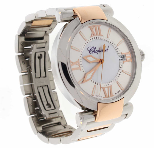 Chopard Imperiale 18K Rose Gold & Stainless Steel Original Mother of Pearl Dial 40MM Automatic Ladies Watch 8531