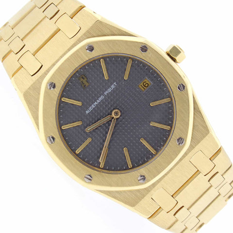 Audemars Piguet Royal Oak 18K Yellow Gold 33mm Grey Dial Watch C85080