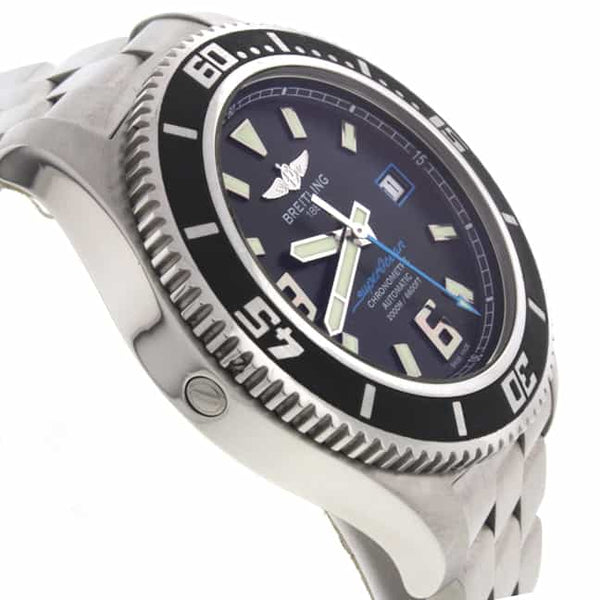 Breitling SuperOcean 44 Black Dial Automatic Stainless Steel Mens Watch A17391