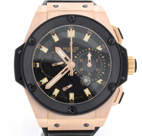 Hublot Big Bang King Power Split Second Black Guilloche Dial 18K Rose Gold Limited Edition 48MM Watch 709OM1780RX