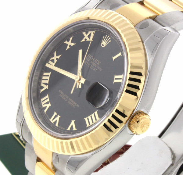 Rolex Datejust II 2-Tone 18K Yellow Gold/Stainless Steel 41MM Automatic Mens Watch 116333