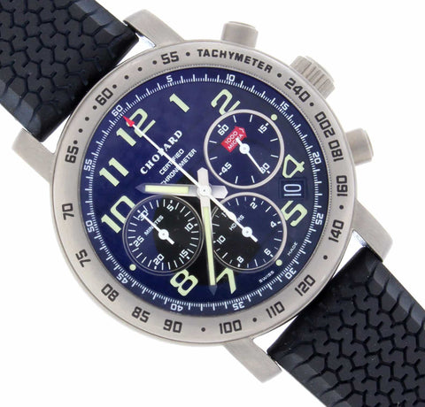 Chopard Mille Miglia Chronograph Black Dial 40MM Automatic Titanium Mens Watch 168915