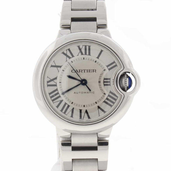 Cartier Ballon Bleu Silver Roman Dial 33MM Automatic Stainless Steel Ladies Watch W6920071