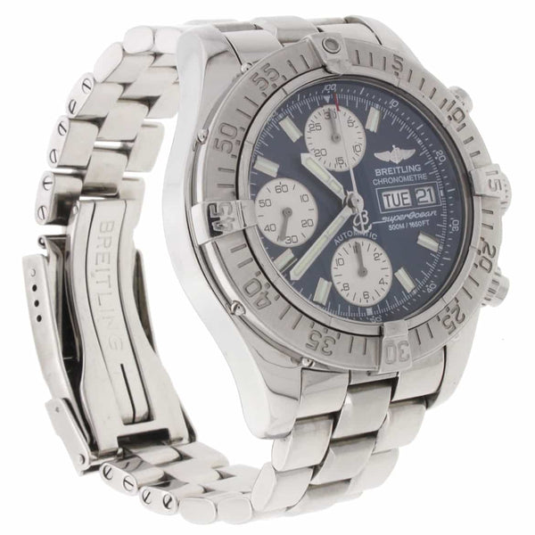 Breitling Chrono SuperOcean Day Date Black Dial 42MM Automatic Stainless Steel Mens Watch A13340