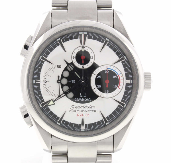 Omega Seamaster NZL-32 Chronograph Aqua Terra Stainless Steel Mens Watch 25133000