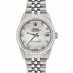 Rolex Datejust Midsize 31MM Automatic Stainless Steel Women's Watch w/MOP Diamond Dial & Bezel