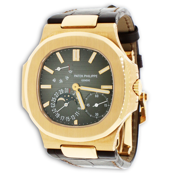 Patek Philippe Nautilus 18K Rose Gold 40MM Automatic Mens Watch 5712R-001 Box & Papers