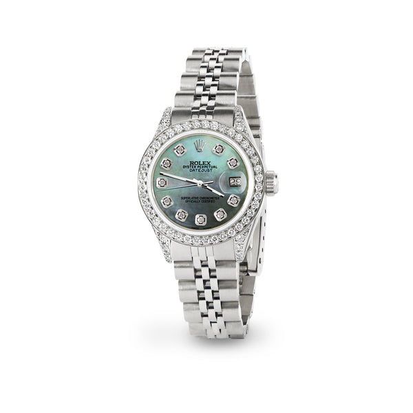 Rolex Datejust 26mm Steel Jubilee Diamond Watch with Light Pearl Dial