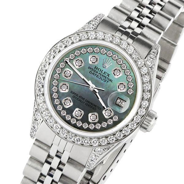 Rolex Datejust 26mm Steel Jubilee Diamond Watch with Pearl Dial