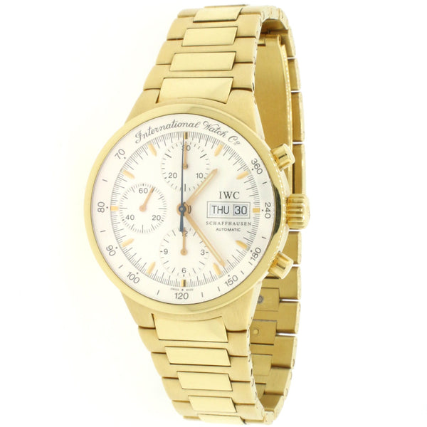 IWC GST Chronograph Calendar 40MM Yellow Gold Automatic Mens Watch IW9277