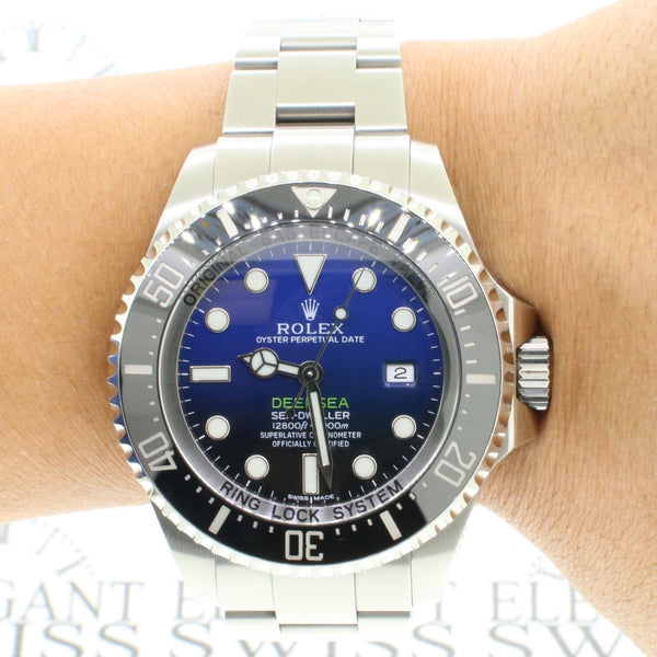 Rolex Sea-Dweller DeepSea 44mm D-Blue James Cameron Dial Stainless Steel Oyster Watch 116660