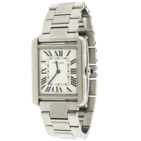 Cartier Tank Solo Small 24MM Roman Dial stainless Steel Watch W5200013