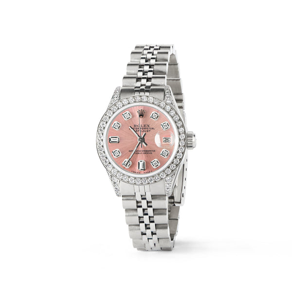 Rolex Datejust 26mm Steel Jubilee Diamond Watch w/Salmon Dial