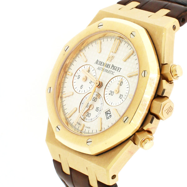 Audemars Piguet Royal Oak 18K Rose Gold 41mm Chronograph Box Papers 26320OR.OO.1220OR.02
