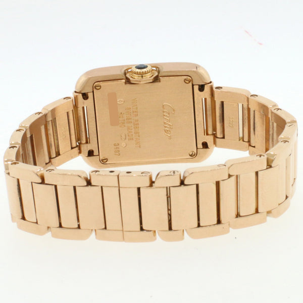 Cartier Tank Anglaise Small 23mm Rose Gold Ladies Watch 3487 W5310013