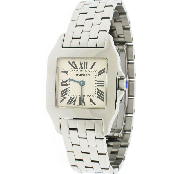 Cartier Santos Demoiselle Steel 26mm Watch W25065Z5 2701 Box Papers