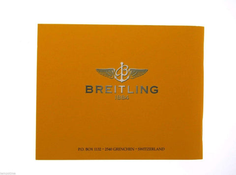 Breitling Colt GMT Vintage Watch Booklet Instruction Manual
