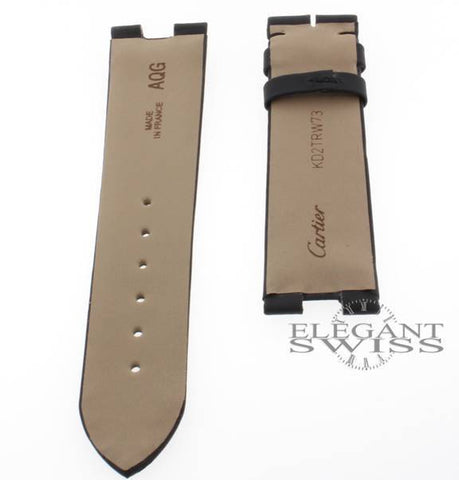 Cartier Black 19.5mm Watch Strap Ref. KD2TRW73