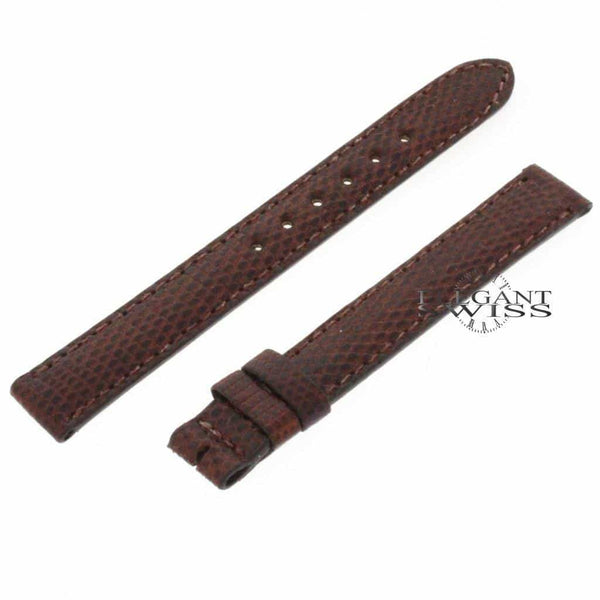 Genuine Cartier Lizard Brown Leather Strap Band B4084660 12MM