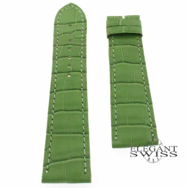 Genuine Cartier Green Alligator Leather Strap Band KD98BM01 20MM