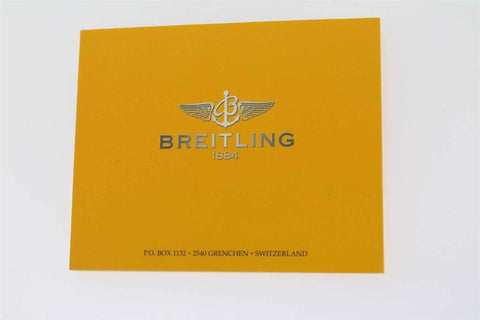 Breitling Super Avenger Vintage Rare Booklet Instruction Manual In English