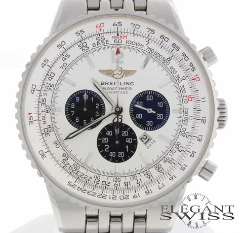 Breitling Navitimer Heritage Flyback 43MM Chronograph Automatic Stainless Steel Mens Watch A35340