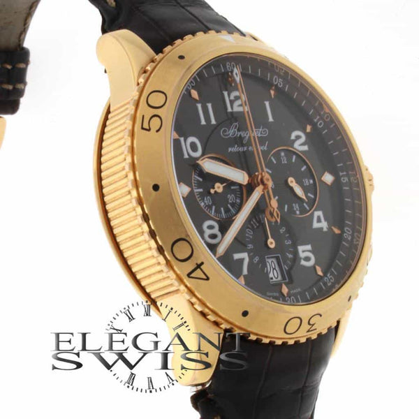 Breguet Transatlantique Type XXI Flyback 18K Rose Gold 44MM Automatic Mens Watch 3810
