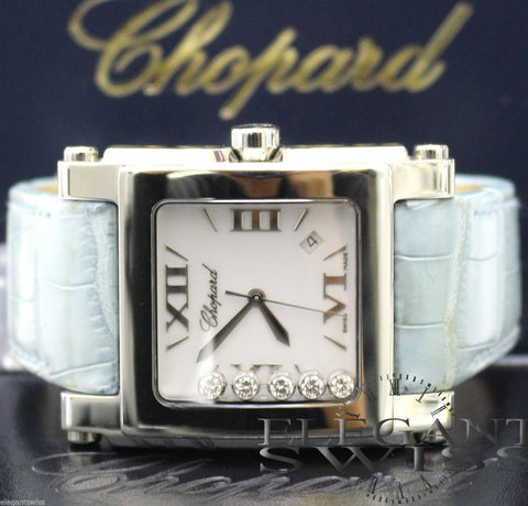 UNWORN Chopard Happy Sport Square XL Extra Large Watch, 28/8447-3001