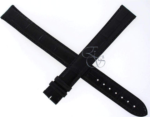 Cartier Alligator Leather Black 20 mm EXTRA LONG Watch Strap Band Model KD98ZK97