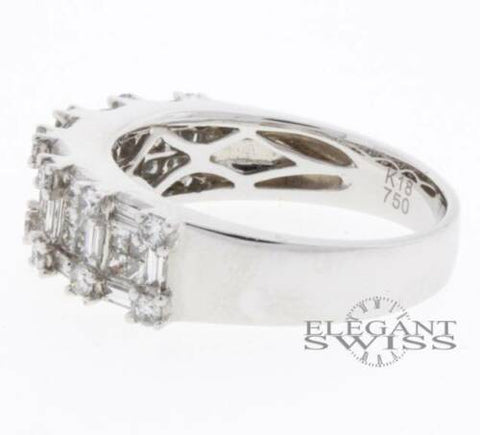 Ladies 18K White Gold 1.25 Ct Diamond Ring