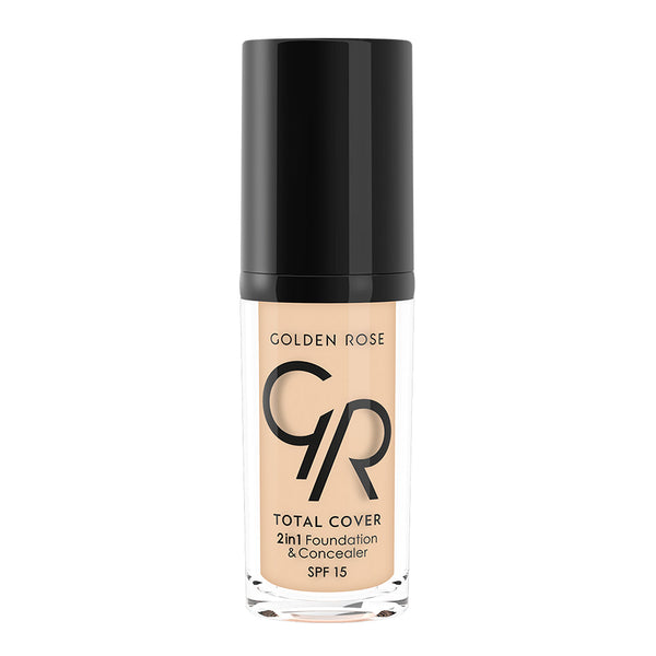 TOTAL COVER 2in1 Foundation & Concealer - Golden Rose Cosmetics BiH