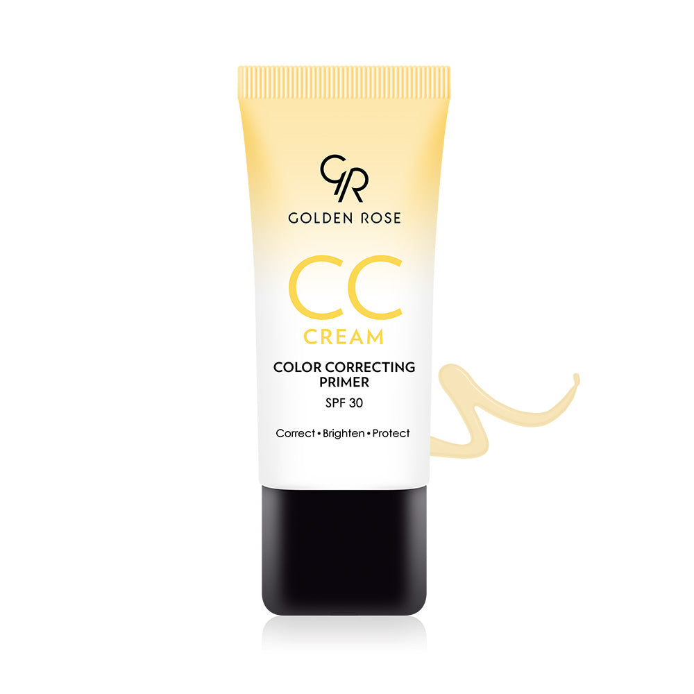 CC Cream Color Correcting Primer – Yellow - Golden Rose Cosmetics BiH