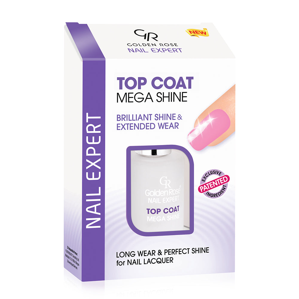 Nail Expert Top Coat Mega Shine - Golden Rose Cosmetics BiH