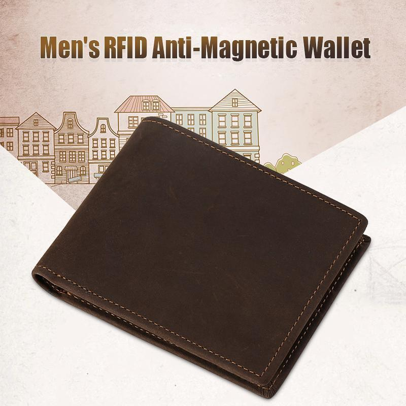 Men's RFID Anti-Magnetic Wallet