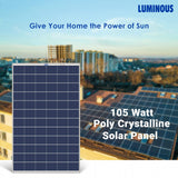Luminous Solar PV Panel 105W/12V