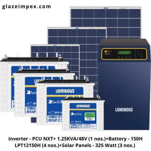 1kw solar system with batteries and Panel price in India for off-grid