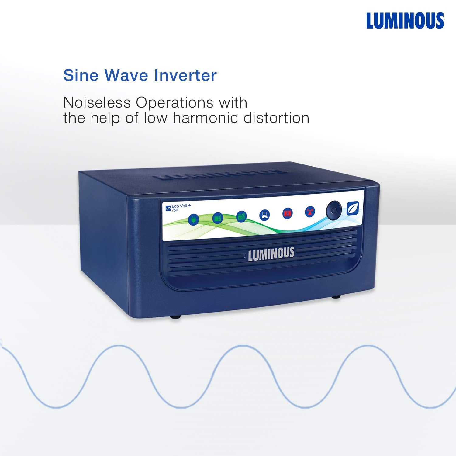 Buy Luminous Eco volt+ 750 sine wave inverter for Home