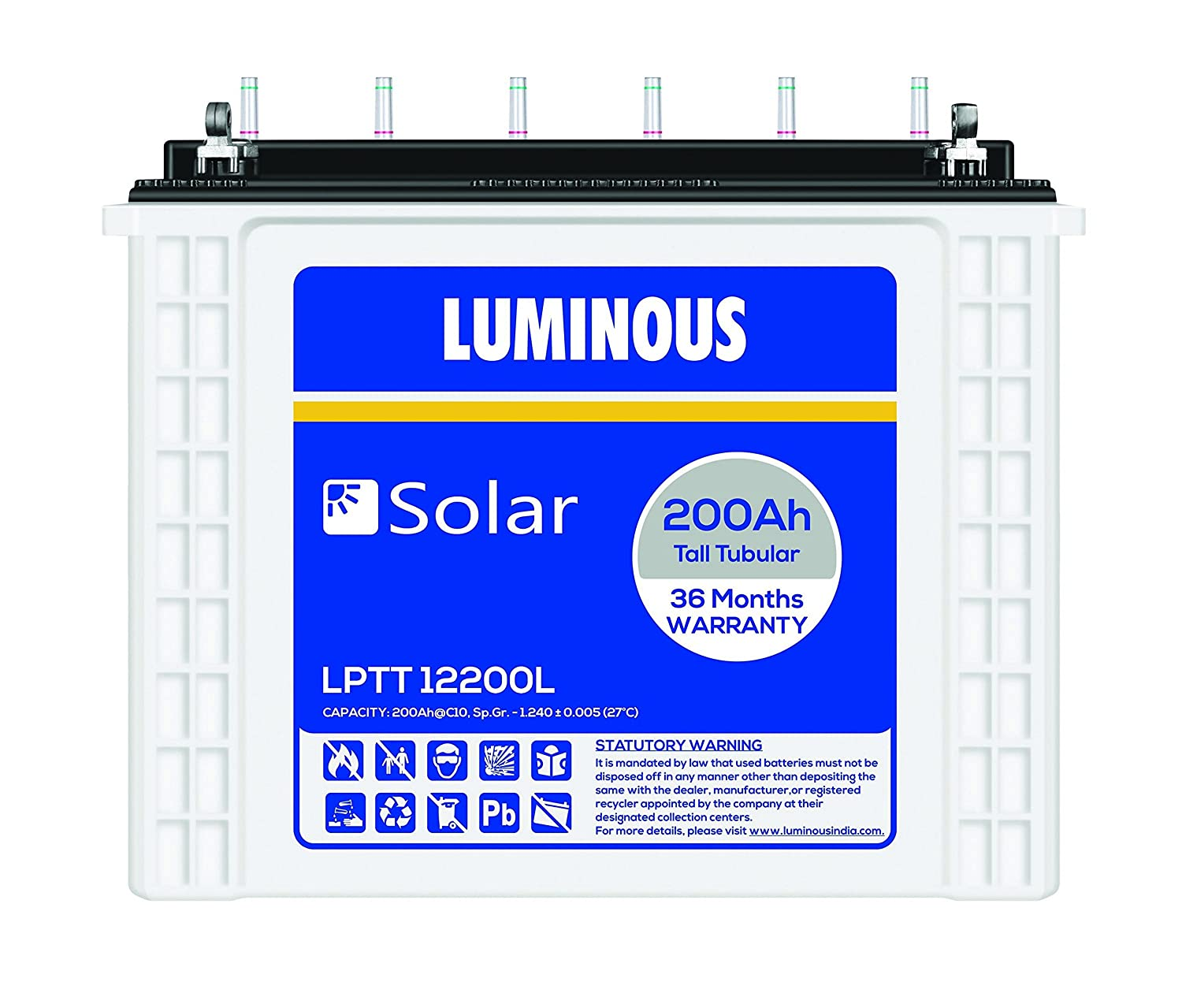 Luminous Solar Battery 200ah -LPT12200L