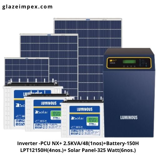 Luminous 2.5KVA off-grid solar system Combo - Inverter, Battery and Panel