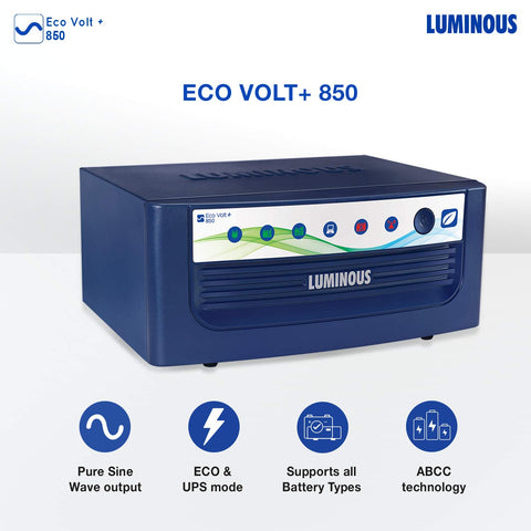 Luminous Eco Volt+ 850 Sine Wave Inverter for Home, Office & Shop